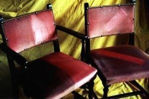 chairs from a fire station in birmingham that were cleaned by bccb