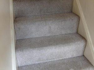 This is the same stairway carpet after BCCB had carried out restorative cleaning work. They look almost like the day the carpet fitter laid them down