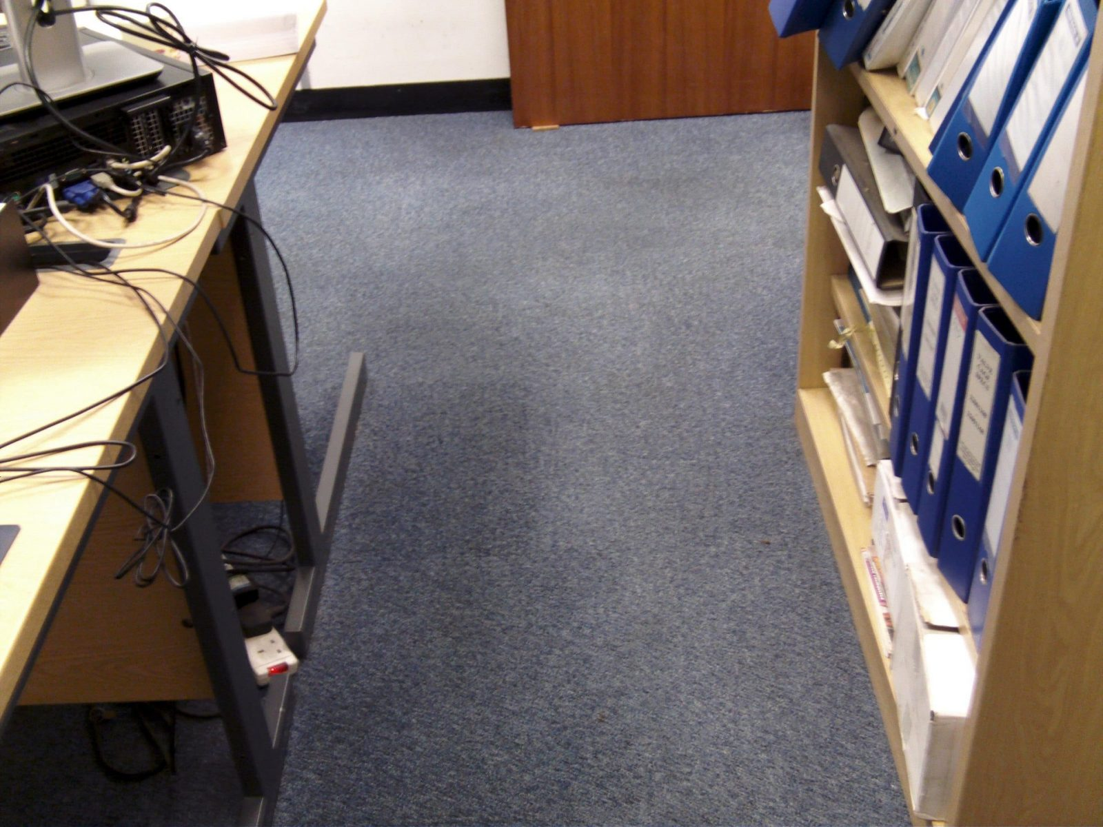 Offices carpet tiles after treatment